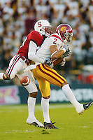 Leigh Torrence during Stanford's 49-17 loss to USC on November 9, 2002 at Stanford Stadium.<br />