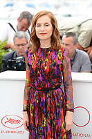"22 May 2017 - Cannes, France - Isabelle Huppert. """"Happy End"" Photocall - 70th Annual Cannes Film Festival held at Palais des Festivals. Photo Credit: Jan Sauerwein/face to face/AdMedia"
