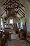 Inside village parish church of Saint Peter and Saint Paul, Alpheton, Suffolk, England, UK