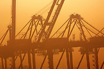Seattle: Container cranes, Port of Seattle, Pacific Northwest, Pacific Rim Trade,