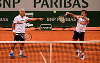 MONSOUR BAHRAMI, FABRICE SANTORO<br /> <br /> TENNIS - FRENCH OPEN - ROLAND GARROS - ATP - WTA - ITF - GRAND SLAM - CHAMPIONSHIPS - PARIS - FRANCE - 2018  <br /> <br /> <br /> <br /> &copy; TENNIS PHOTO NETWORK