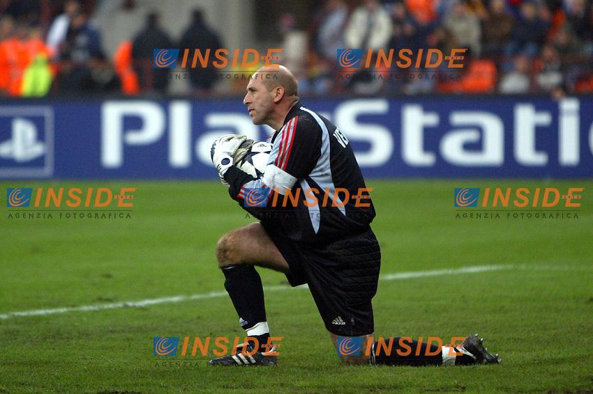 Milano 22/10/2003 Champions League <br /> Milan Club Brugge 0-1 <br /> Dany Verlinden (Club Brugge)<br /> Photo Staccioli / Insidefoto