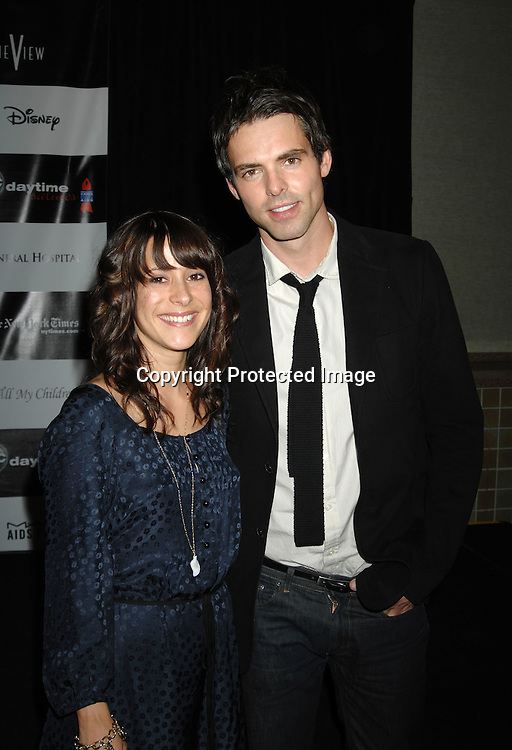 "Kimberly McCullough, Jason Thompson..at the afterparty for The 3rd Annual ""ABC Daytime Salutes Broadway Cares/Equity Fights Aids "" Benefit at the Marriott Marquis in New York on February 25, 2007. ..Robin Platzer, Twin Images.."