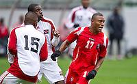 CARSON, CA - March 25, 2012: Yairo Glaize (17) of Panama during the Panama vs Trinidad & Tobago match at the Home Depot Center in Carson, California. Final score Panama 1, Trinidad & Tobago 1.
