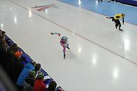 SCHAATSEN: GRONINGEN: Sportcentrum Kardinge, 17-01-2015, KPN NK Sprint, Jesper Hospes, Hein Otterspeer, ©foto Martin de Jong