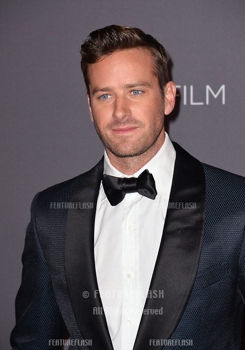 Armie Hammer at the 2017 LACMA Art+Film Gala at the Los Angeles County Museum of Art, Los Angeles, USA 04 Nov. 2017<br /> Picture: Paul Smith/Featureflash/SilverHub 0208 004 5359 sales@silverhubmedia.com