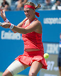 Petra Kvitova (CZE) loses to Flavia Panetta (ITA) 6-4, 4-6, 6-2 at the US Open in Flushing, NY on September 9, 2015.