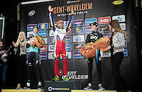 victory for Luca Paolini (ITA/Katusha)<br /> 2nd: Niki Terpstra (NLD/Etixx-QuickStep)<br /> 3rd: Geraint Thomas (GBR/SKY)<br /> <br /> 77th Gent-Wevelgem 2015
