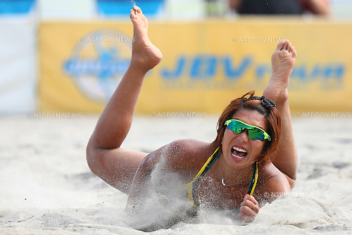 Samaa Miyagawa,<br /> SEPTEMBER 21, 2015 - Beach Volleyball : <br /> JBV Tour 2015 Tokyo Open<br /> Women's Semi-Final<br /> at Odaiba Beach, Tokyo, Japan.<br /> (Photo by Shingo Ito/AFLO SPORT)