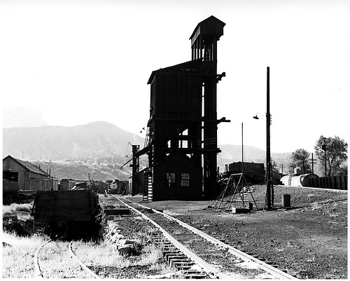 D&amp;RGW Durango coaling tower from south side.<br /> D&amp;RGW  Durango, CO