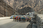 The peloton in action during Stage 4 of 10th Tour of Oman 2019, running 131km from Yiti (Al Sifah) to Oman Convention and Exhibition Centre, Oman. 19th February 2019.<br /> Picture: ASO/K&aring;re Dehlie Thorstad | Cyclefile<br /> All photos usage must carry mandatory copyright credit (&copy; Cyclefile | ASO/K&aring;re Dehlie Thorstad)