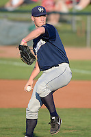 Helena Brewers starting pitcher Brandon Moore (31) delivers a pitch to the plate against the Ogden Raptors at Lindquist Field in Ogden Utah on July 20, 2013.  (Stephen Smith/Four Seam Images)