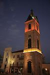 Israel, Tel Aviv-Yafo. The Clock Tower in Jaffa was built in the beginning of the 20th century to celebrate the silver jubilee of the reign of the Ottoman Sultan Abd al-Hamid the II