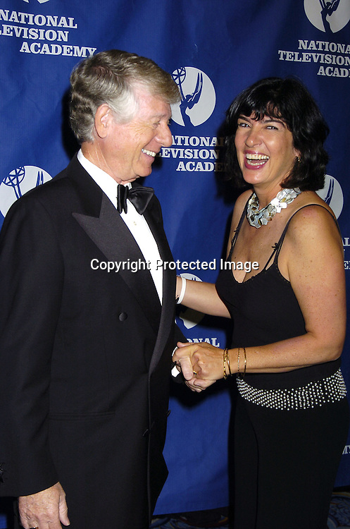 Ted Koppel and Christiane Amanpour ..at The 26th Annual News and Documentary Emmy Awards..Ceremony on September 19, 2005 at the Marriott Marquis..Hotel in New York. ..Photo by Robin Platzer, Twin Images