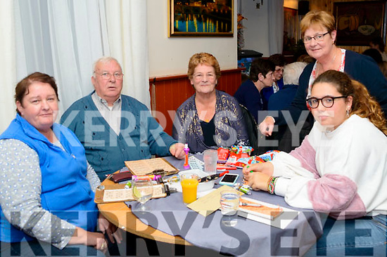 Marion Mahony, Mary O'Shea, Kathleen O'Neill & Almudema Herraez at the Threshing Cancer Bingo in The Manor Inn on Friday