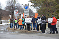 A group of about 30 placard carrying protesters took part in a Justice for Joe rally at the Provincial Court Building.