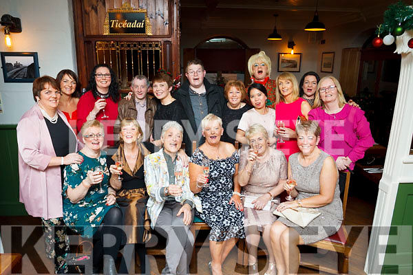 The staff of Compass Catering IT Tralee, enjoying their Xmas outing in the Station House in Blennerville on Saturday night last.<br /> Seated L to r: Mary Greensmyth, Patsie O'Connor, Lillian Holmes, June McCauley, Margaret Breen &amp; Joan Walsh.<br /> Back row L to R: Brenda O'Connor, Della Feeley, Una O'Connor Reidy, John Burns, Imelda Mullane, Paudi Riardan, Margaret O'Connor, Clair O'Connor, Mr Pussy, Kate Cronin, Theresa Nolan and Patsie Stone.
