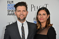 Adam Scott &amp; Naomi Scott at the 2017 Film Independent Spirit Awards on the beach in Santa Monica, CA, USA 25 February  2017<br /> Picture: Paul Smith/Featureflash/SilverHub 0208 004 5359 sales@silverhubmedia.com