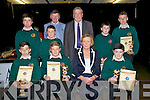 ATTENDANCE: Students of Causeway Comprehensive School,who were presented with their 100persent attendance since September 2013 at the Causeway Comprehensive School Awards on Thursday evening. Front l-r: Shane McElligott,GeraldmLeen, Lucille O'Sullivan (principal) and Aidan Leahy.Back l-r: Cian Doherty,David Allen,Tim Leahy (teacher), Joh O'Regan (retired principal),Bryan Sheehan and Shane Duggan.