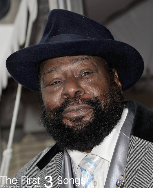 George Clinton attends the Rock & Roll Hall of Fame Induction Ceremony in Cleveland, Ohio on April 14, 2012.