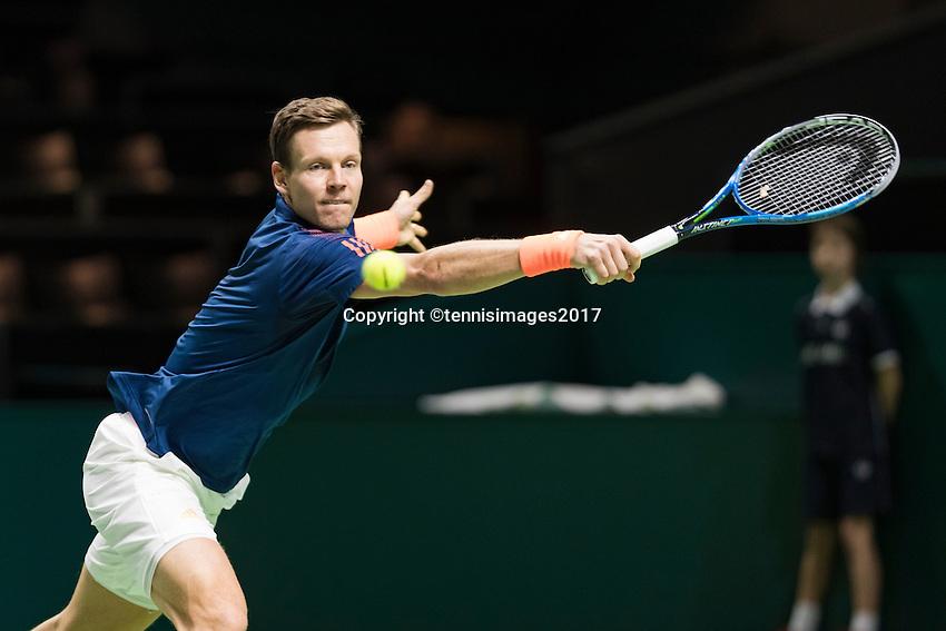 ABN AMRO World Tennis Tournament, Rotterdam, The Netherlands, 17 Februari, 2017, Tomas Berdych (CZE)<br /> Photo: Henk Koster