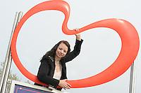 CULTUUR: HEERENVEEN: 31-03- 2014, Winde Rienstra, Ontwerpster Winde Rientsra is een upcoming talent die afgelopen 'Amsterdam Fashion Week' haar nieuwste creaties toonde, ©foto Martin de Jong