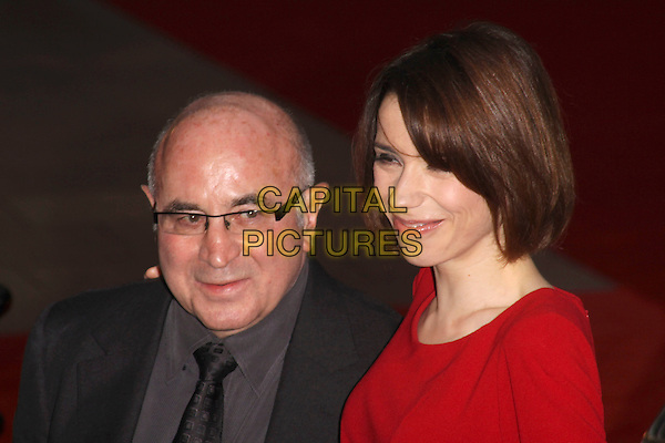"BOB HOSKINS & SALLY HAWKINS.""Made In Dagenham"" UK film premiere held at the Odeon Leicester Square,  London, England, 20th September 2010..portrait headshot red glasses grey gray shirt black tie suit .CAP/AH.©Adam Houghton/Capital Pictures."