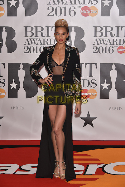LONDON, ENGLAND - FEBRUARY 24: Alesha Dixon attends the BRIT Awards 2016 at The O2 Arena on February 24, 2016 in London, England<br /> CAP/PL<br /> &copy;Phil Loftus/Capital Pictures