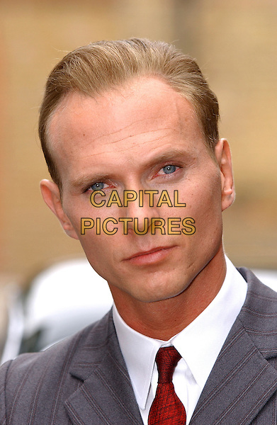 "LUKE GOSS.former star of 1980's pop group Bros.star of new film ""Charlie"" .about  ""gangster"" Charlie Robinson, London,.18th October 2002..portrait headshot.Ref: P4.www.capitalpictures.com.sales@capitalpictures.com.©Capital Pictures."