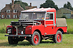 Mid 1950s Land Rover Series 1 86in fire engine. Dunsfold Collection of Land Rovers Open Day 2011, Dunsfold, Surrey, UK. --- No releases available, but releases may not be necessary for certain uses. Automotive trademarks are the property of the trademark holder, authorization may be needed for some uses.