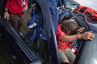 A gourp of scouts set a new record to fill a car. The record this time is 24 scouts and 14 nation, wow!