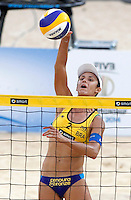Brazil's Talita Antunes in action at the Beach Volleyball World Tour Grand Slam, Foro Italico, Rome, 22 June 2013. Brazil defeated Germany 2-1.<br /> UPDATE IMAGES PRESS/Isabella Bonotto