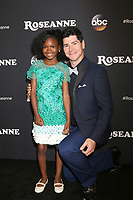 "LOS ANGELES - MAR 23:  Jayden Rey, Michael Fishman at the ""Roseanne"" Premiere Event at Walt Disney Studios on March 23, 2018 in Burbank, CA"