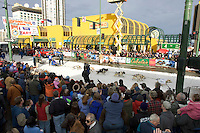 Tyrell Seavey Leaves Start Line Ceremonial Start Iditarod 2005 Anchorage AK