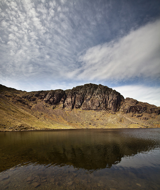 Pavey Ark reflections, Lake District, Cumbria, UK