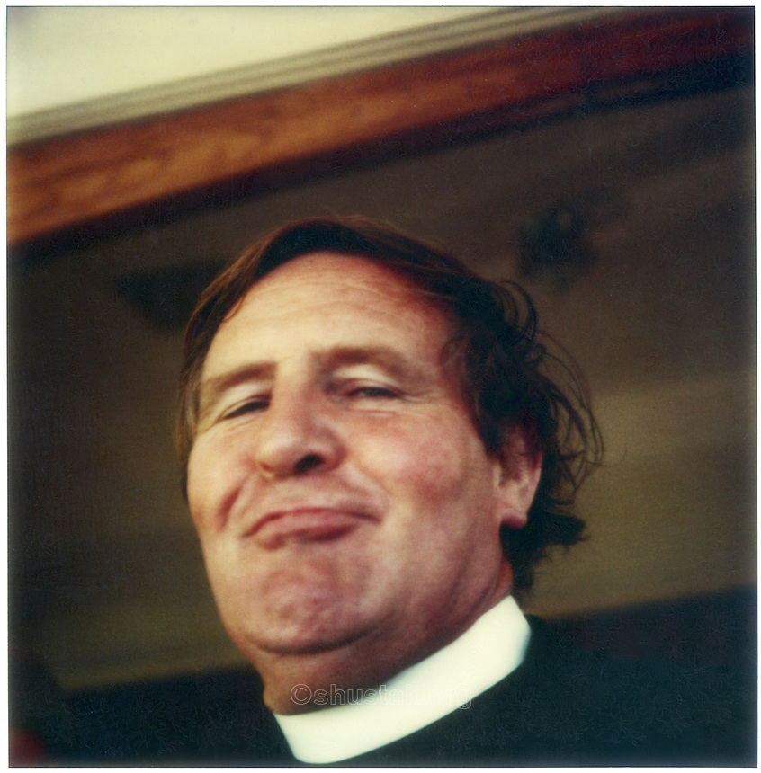 The Reverend Bob Lowe (1927-2003) SX-70 photograph c.1976.