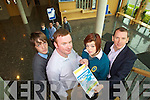 Getting ready for the blue sky day at the Brandon Hotel, Tralee on Friday are Donagh Sugrue (student), Brian Stephenson (mentor, Text Republic), Katie Foley (student) and David Slattery (mentor, Stein Travel). Back are Anthony Cronin, Darragh O'Hanlon, Sinead Joy and Ronan Quill.