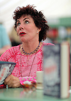Pictured: Ruby Wax signing copies of her book 'Frazzled' Monday 30 May 2016<br />