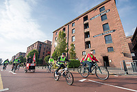 Picture by Allan McKenzie/SWpix.com - 24/09/2017 - Cycling - HSBC UK City Ride Liverpool - Albert Dock, Liverpool, England - Albert Dock, Edward Pavillion, riders.