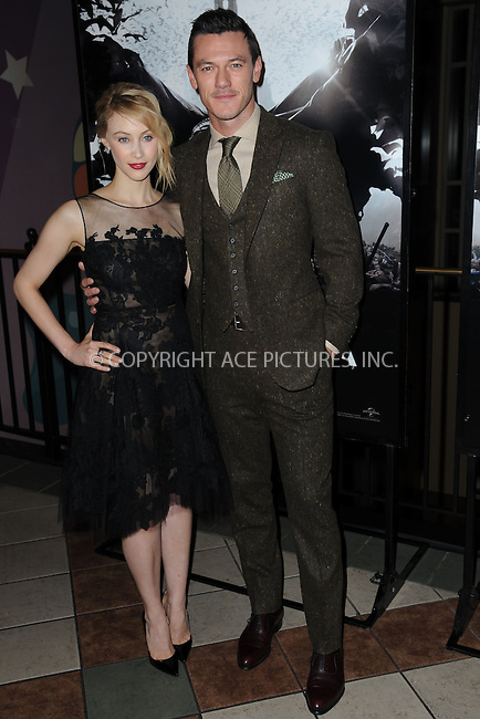 WWW.ACEPIXS.COM<br /> October 6, 2014 New York City<br /> <br /> Sarah Gadon and Luke Evans attending the 'Dracula Untold' New York Premiere at AMC Loews 34th Street Theater on October 6, 2014 in New York City.<br /> <br /> <br /> By Line: Kristin Callahan/ACE Pictures<br /> ACE Pictures, Inc.<br /> tel: 646 769 0430<br /> Email: info@acepixs.com<br /> www.acepixs.com