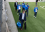 FK Trakai v St Johnstone…06.07.17… Europa League 1st Qualifying Round 2nd Leg, Vilnius, Lithuania.<br />Tommy Wright srrives at the LFF Stadium eith his players<br />Picture by Graeme Hart.<br />Copyright Perthshire Picture Agency<br />Tel: 01738 623350  Mobile: 07990 594431