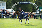 Stamford, Lincolnshire, United Kingdom, 8th September 2019, Pippa Funnell (GB) & MGH Grafton Street during the the lap of honour after winning the 2019 Land Rover Burghley Horse Trials, Credit: Jonathan Clarke/JPC Images