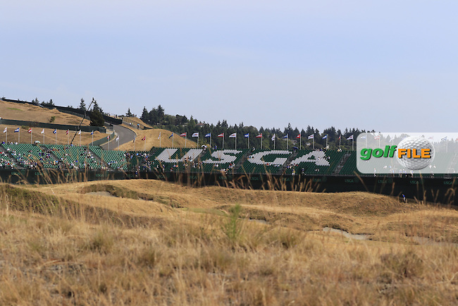 The links course during Tuesday's Practice Day of the 2015 U.S. Open 115th National Championship held at Chambers Bay, Seattle, Washington, USA. 6/16/2015.<br /> Picture &copy; Golffile/Eoin Clarke