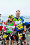 Tom and Louise McCarthy Castleisland take a break at the top of  Coommosta during their Ring of Kerry cycle on Saturday morning