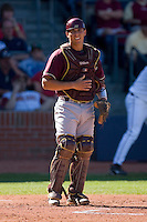 Catcher Tony Sanchez #26 of the Boston College Eagles on defense versus the Florida State Seminoles at Durham Bulls Athletic Park May 20, 2009 in Durham, North Carolina. (Photo by Brian Westerholt / Four Seam Images)