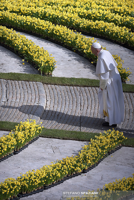 Pope Francis during of a weekly general audience at St Peter's square in Vatican, WednesdayApril 24, 2019