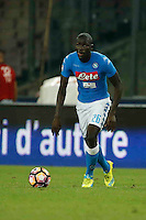 Kalidou Koulibaly <br />  during the  italian serie a soccer match,between SSC Napoli and AC Chievo       at  the San  Paolo   stadium in Naples  Italy , September 25, 2016