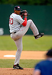 30 June 2007: Lowell Spinners starting pitcher Jose Capellan on the mound during a game against the Vermont Lake Monsters at Historic Centennial Field in Burlington, Vermont. The Spinners defeated the Lake Monsters 8-4 in the last game of their 3-game, NY Penn-League series...Mandatory Photo Credit: Ed Wolfstein Photo