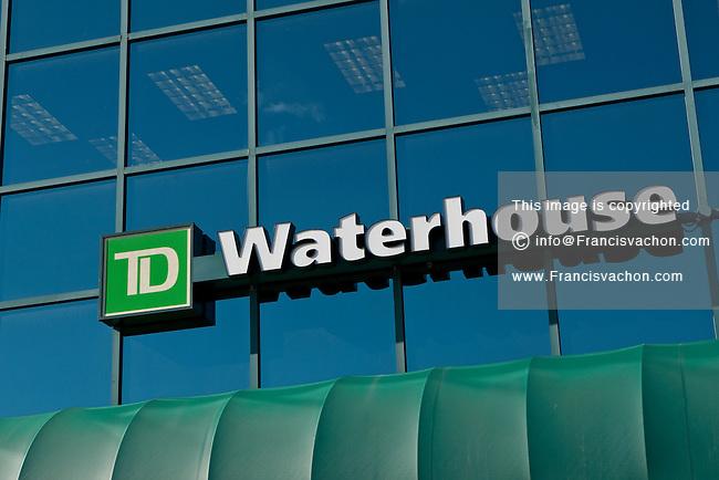 TD Waterhouse logo is seen on a Quebec City office September 15, 2010.