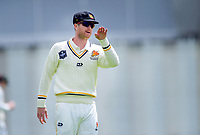 Wellington's Jimmy Neesham on day one of the Plunket Shield cricket match between the Wellington Firebirds and Otago Volts at Basin Reserve in Wellington, New Zealand on Monday, 21 October 2019. Photo: Dave Lintott / lintottphoto.co.nz